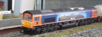 In 2012 Europorte Great British Rail Freight celebrated ten years of partnership with the Mediterranean Shipping Company by repainting General Motors Class 66 Co-Co 66 709 in a blue livery with a broadside image of the Container Ship 'MSC Sorrento' after which it was named.