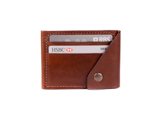 Leather Slimfold Wallet - BLack Logo Wallet by VIDA VIDA iHmSZ1y