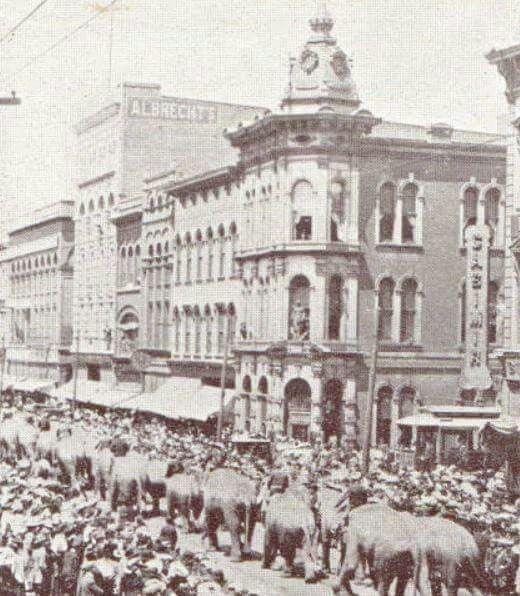 Downtown Terre Haute Ringling Bros. and Barnum & Bailey, 1924