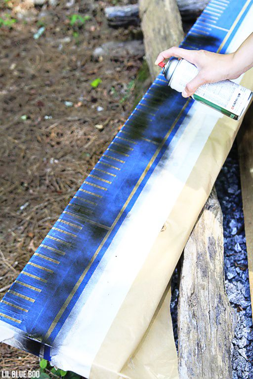 ScotchBlue Painter's Tape project ideas: Oversized Wood Ruler Growth Chart
