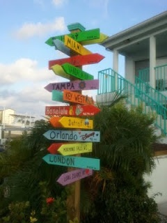 Tropical Directional sign