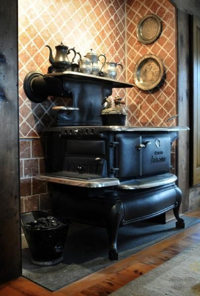 old and antique cole stoves | vintage kitchen coal cook stoves - Google Search
