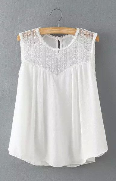 Bohemian Lace Tank-Top Blouse – Trendy Road