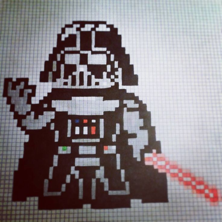 Pixel Art Star Wars Dark Vador