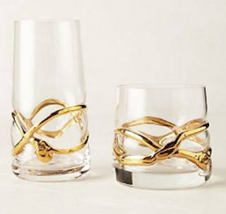Hello, registry!  #gold wrapped glassware http://rstyle.me/~19eso