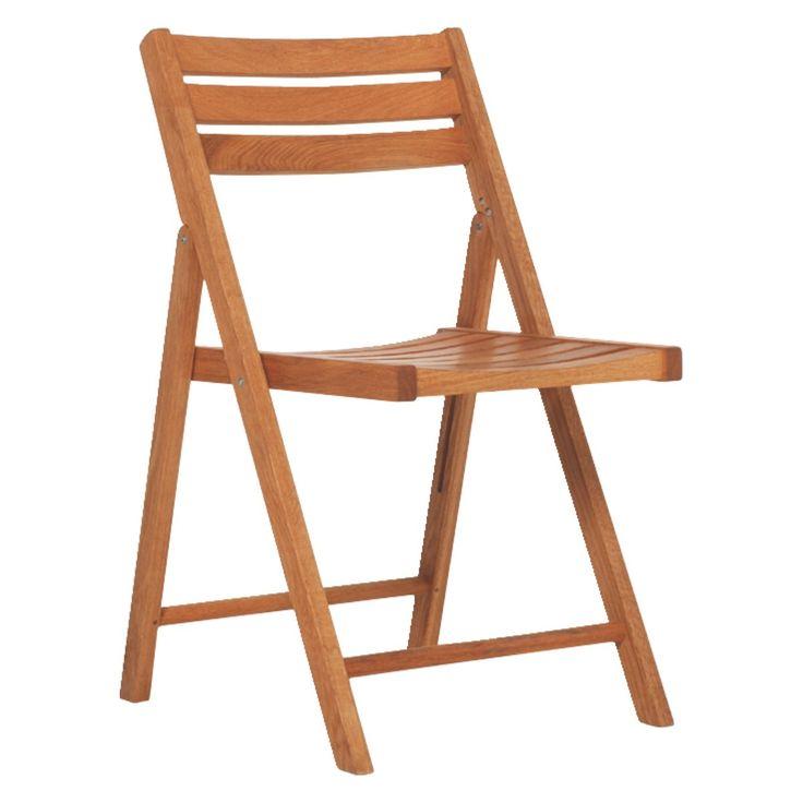 ZENO Oak folding garden chair