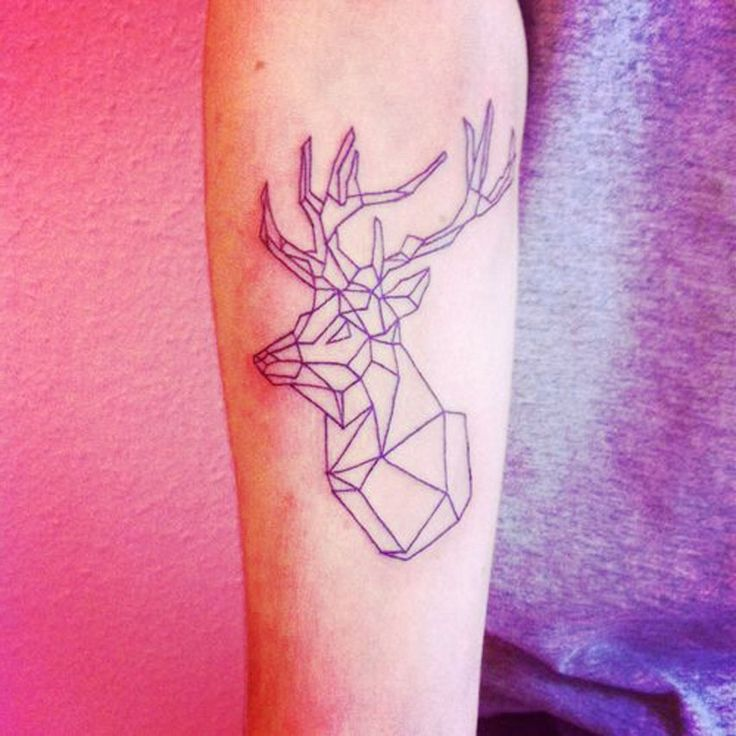 geometric stag tattoo - Google Search | Tattoo Ideas ...
