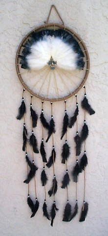 In Native American culture, mandellas symbolize Prosperity, Good Health and Happiness. Initially used as a war shield it symbolizes good luck. All within the circle of life, it is made of hides, leather, wool, beads and feathers and protects the dwelling holder against bad spirits.