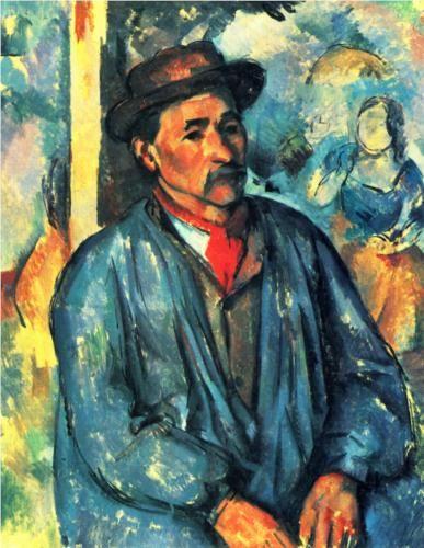 Peasant in a Blue Smock  - Paul Cezanne, c. 1897.