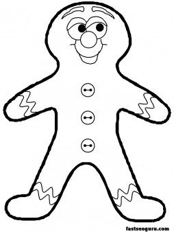 Printable Coloring Pages Of Christmas Gingerbread Men For Kidsprint Out