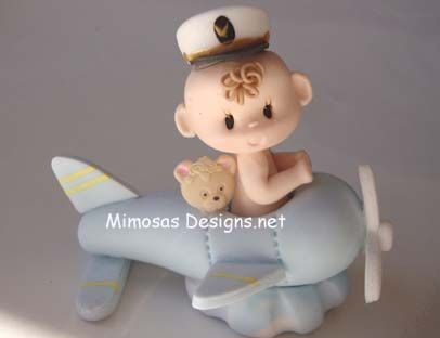 *COLD PORCELAIN ~ figures for baby showers, gifts etc by Mimosa Designs.