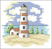 Free lighthouse cross stitch pattern