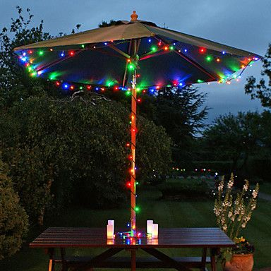 Solar 60-LED Colorful Light Outdoor Fairy Lights Christmas Decoration Lamps – USD $ 37.19