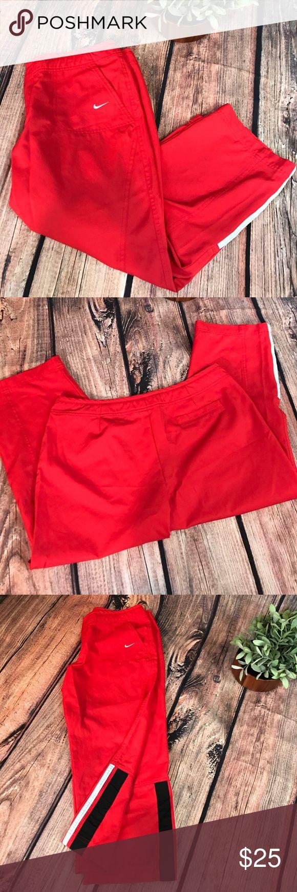 "Nike Capri pants Red Nike Capri pants.  30"" long. Missing tags, see photos. Used condition Nike Pants"