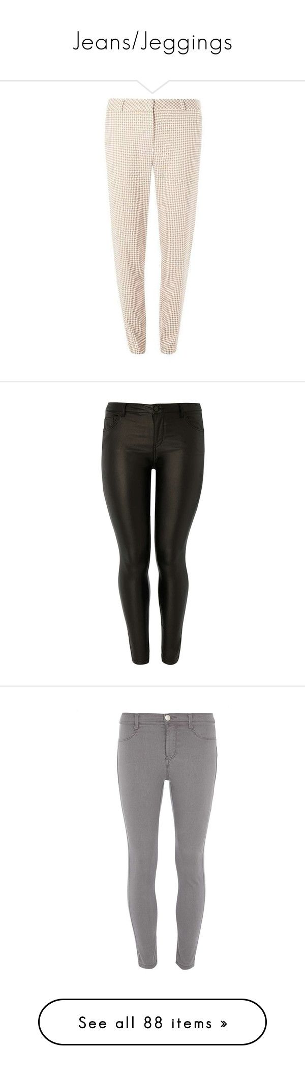 """""""Jeans/Jeggings"""" by curvygirlamy ❤ liked on Polyvore featuring pants, stoner pants, tall pants, pink pants, houndstooth pants, dorothy perkins, jeans, black, skinny fit jeans and mid-rise jeans"""