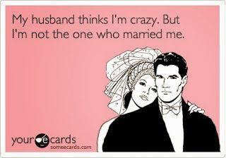 Ha ha ha willingly. He married me willingly and so happy about it too. Muahahahaha