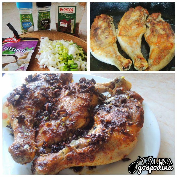 Pulpe de pui la tigaie // Fried chicken legs
