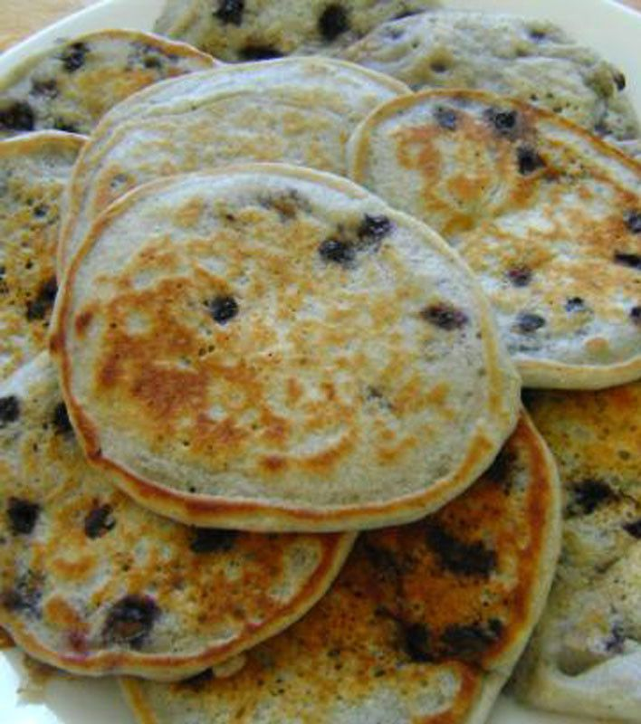 Fluffy Eggless Pancakes