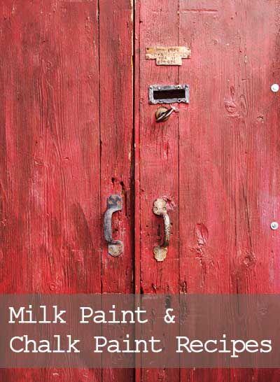 Milk Paint  Chalk Paint Recipes