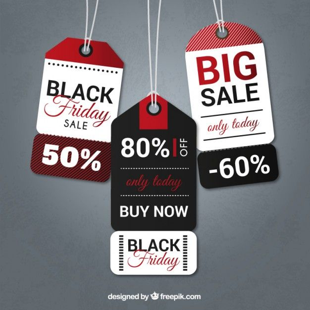 Black friday tags pack I Free Vector