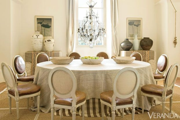 26 designer dining rooms veranda magazine french for Interior decoration of dining room