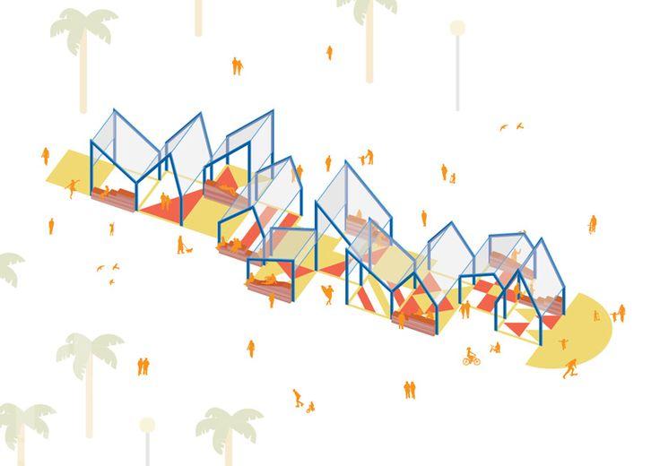 urban-think tank designs xarranca pavilion on barcelona beachfront
