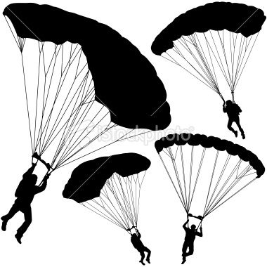 Pix For > Parachute Clipart Vector