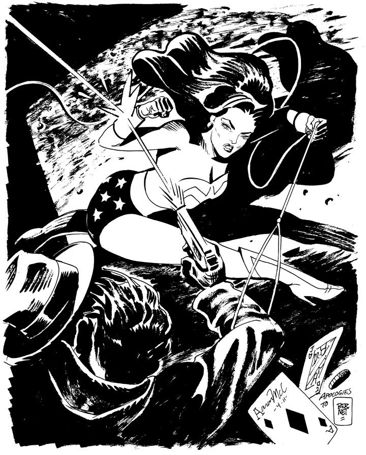Wonder Woman by Aaron McConnell, (Inspired by Jordi Bernet)