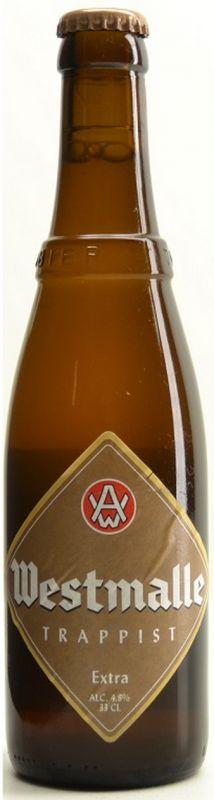 Cerveja Westmalle Extra, estilo Belgian Pale Ale, produzida por Trappisten van Westmalle, Bélgica. 4.8% ABV de álcool.