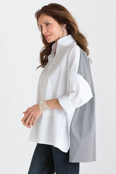 Combo Signature Shirt: Planet: Cotton Shirt | Artful Home.  Indispensable foundation in our wardrobe.