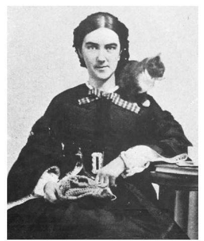 Ellen Swallow Richards - the foremost female industrial & environmental chemist in the 19th-century US, pioneering the field of home economics. She was the first woman admitted to MIT & its first female instructor; the first woman in the US accepted to any school of science or technology, & the first American woman with a degree in chemistry. (and she loved her kitty.)