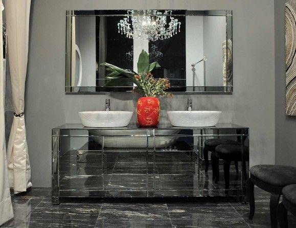 Visionnaire Jupiter Luxury Italian Bathroom Vanity In Lacquered Wood