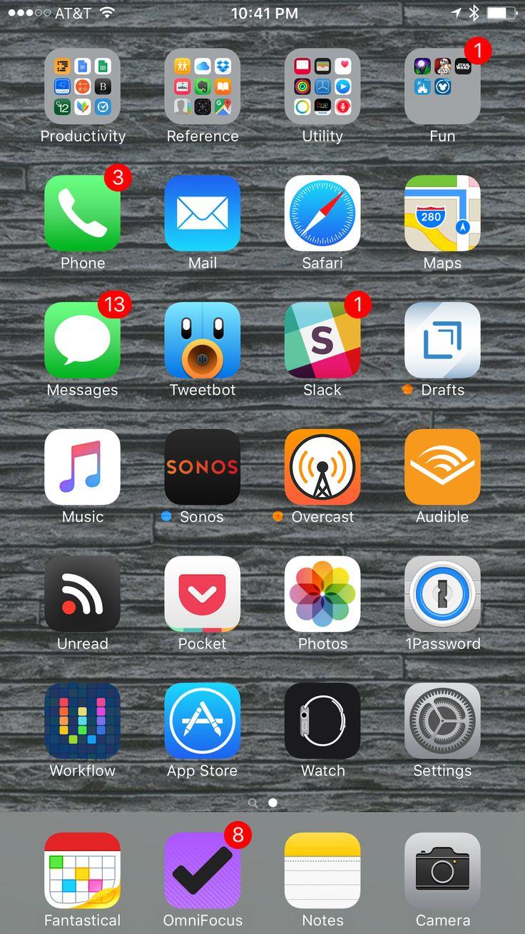 My Home Screen iOS 9 Edition Homescreen, Iphone