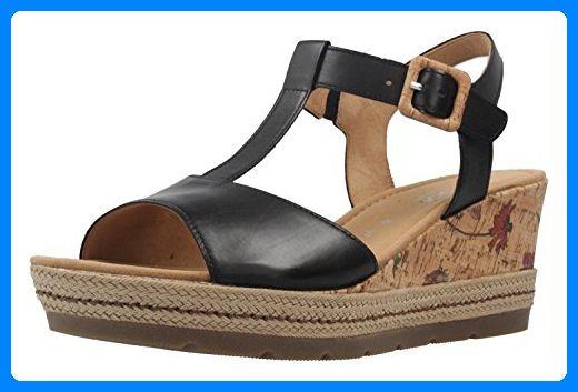 GABOR comfort – Damen Keil-Sandaletten – Schwarz Schuhe in Übergrößen, Größ… – schuhsohn