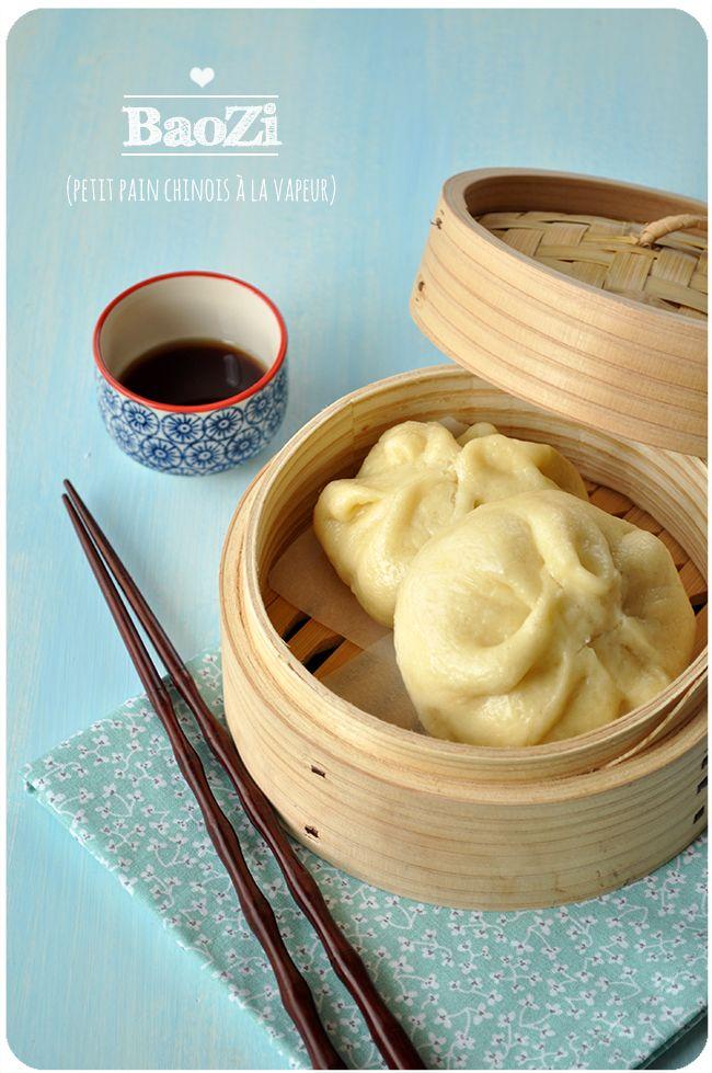 Baozi - petites brioches fourrées à la vapeur
