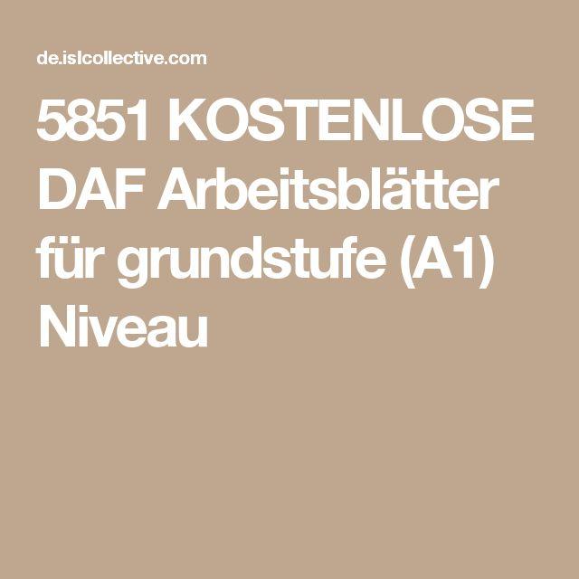 5851 KOSTENLOSE DAF Arbeitsblätter für grundstufe (A1) Niveau