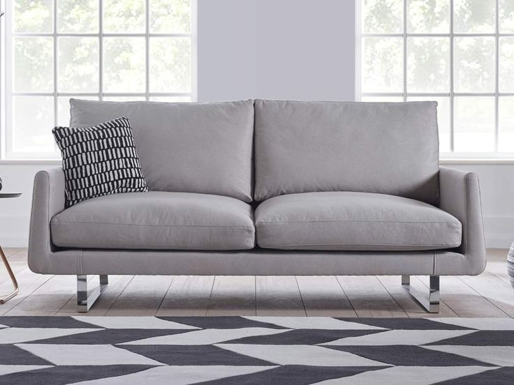 Harper Sofa - A low profile and curved armrests shape this sofa into something ideal for the living room or office - by www.livingitup.co.uk