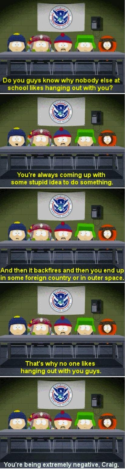 South Park Craig and his negativity