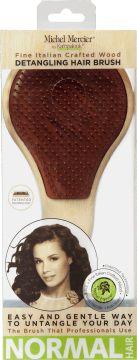 Michel Mercier, Natural Wood, profesjonalna szczotka do włosów normalnych, brązowa, 1 szt., nr kat. 264104
