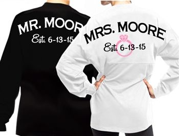 Spirit Jersey Set for the Bride and Groom