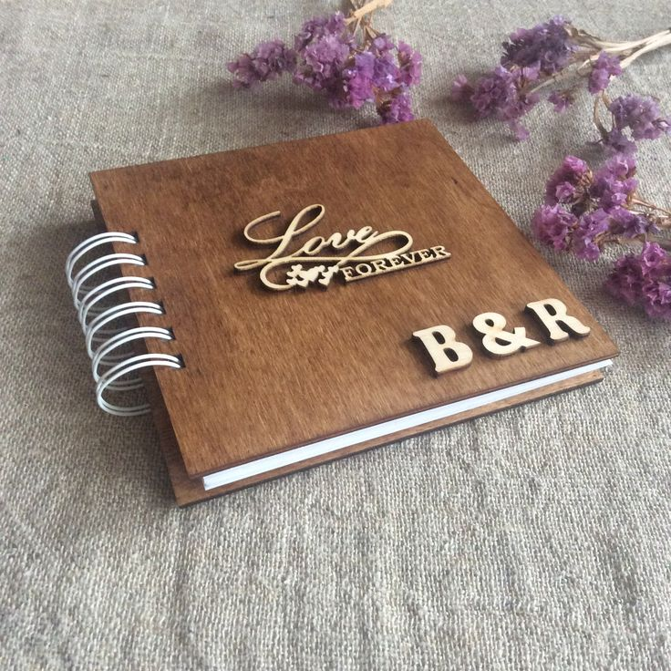 Personalized Scrapbook Album, Wooden Photo Book, Wood Anniversary Gift, Gift for Wife, for Girlfriend, for Boyfriend, for Husband