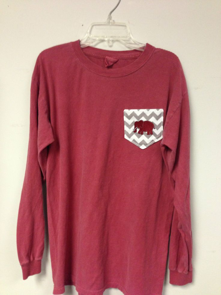 Mongorammed Chevron Stripe LONG SLEEVE Comfort Colors Pocket T Shirt