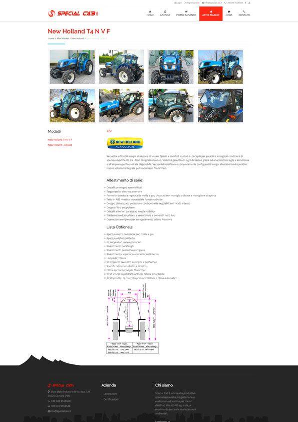 Special Cab - Pagina prodotto sito internet BtoB #web #design http://www.specialcab.it/it/
