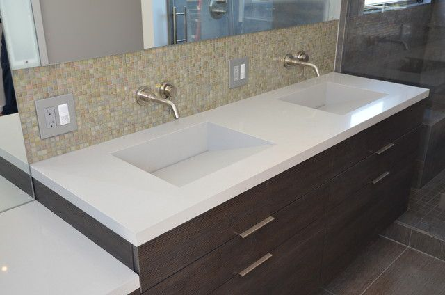 Integrated Bathroom Sink And Countertop Check More At Http