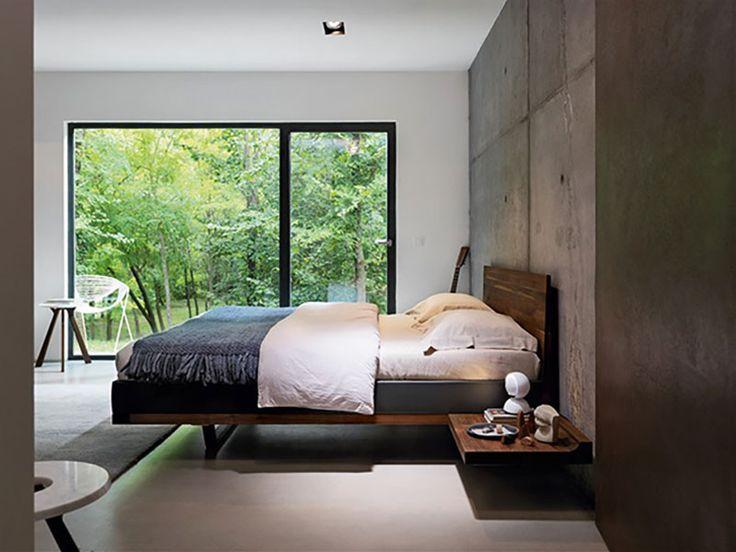 Bettanlage | Doppelbett | Schwebetoptik | Bettseiten In Holz Oder Leder    Bei Möbel Morschett