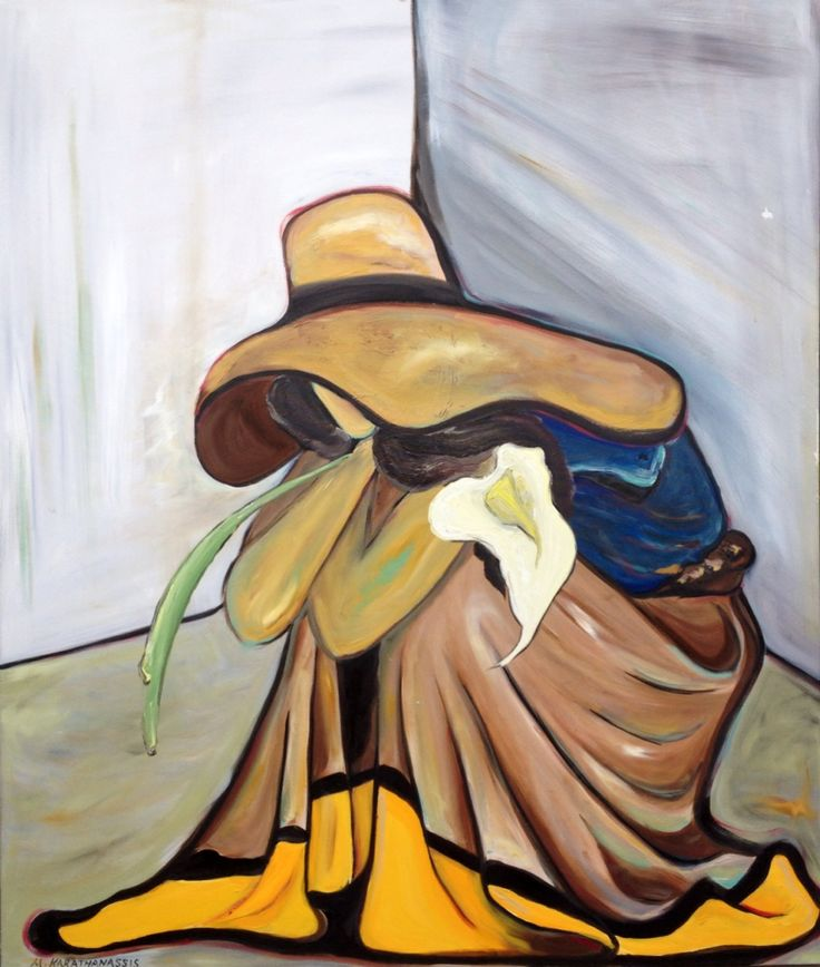 """""""Vivian's Lily"""" Oil on canvas 120cm by 100cm"""