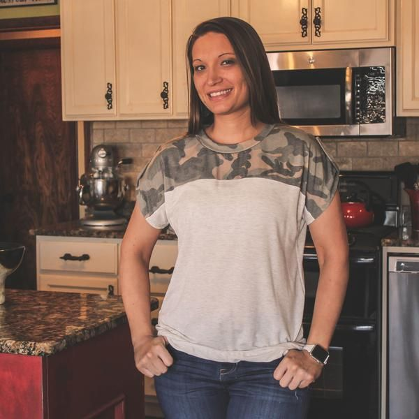 Southern Decor Trends: Comanche Camo Top In Grey - Southern Mess Boutique