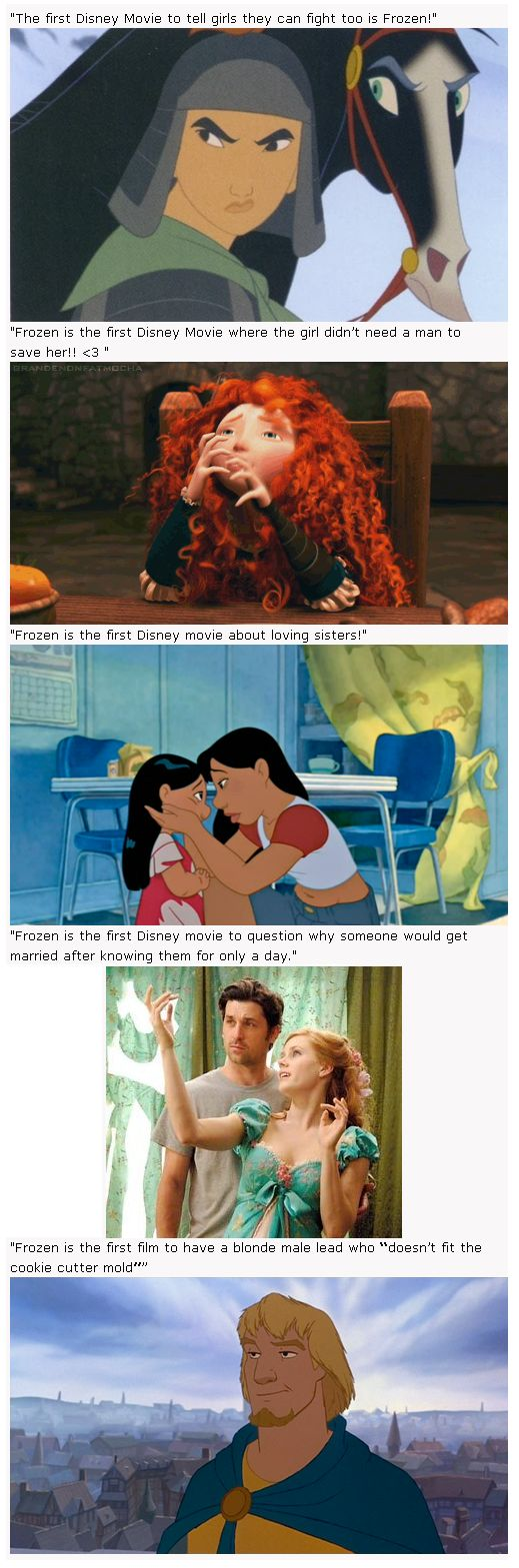 """""""Frozen is the first..."""" I love Frozen and all (of course), but seriously...study up on your Disney, peasants."""