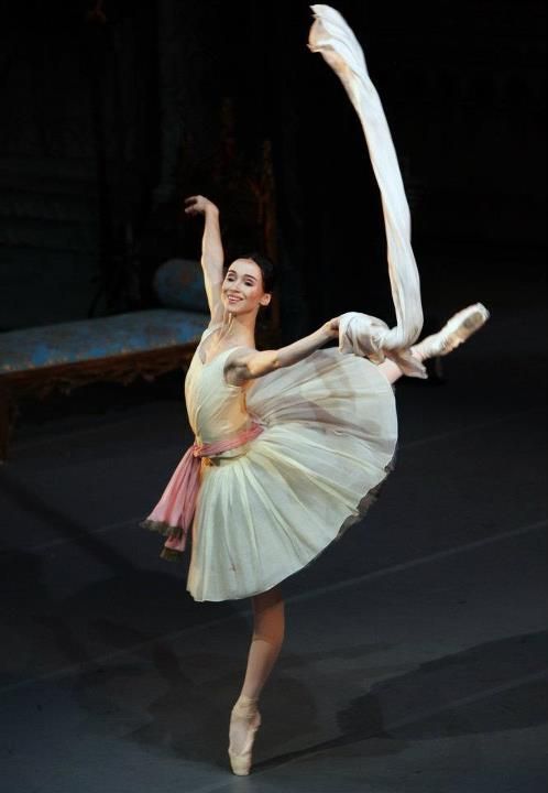 Olesya Novikova  Literally my favorite ballet variation EVER!!! Raymonda Act I. It's so simple, but the music it beautiful and the dancing is effortless. LOVE <3 <3 <3