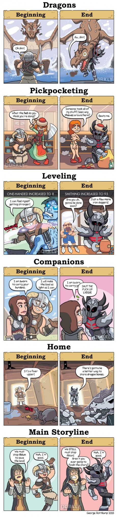 Skyrim: Beginning vs. End